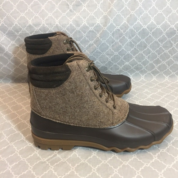 7604d2519 Sperry Shoes | S Mens Avenue Duck Boots Wool Brown | Poshmark